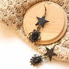 1pair Gothic Star Drop Earrings Lolita Girls Black Creepy Ear pendants Gifts