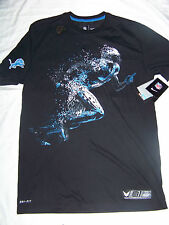 Nike DriFit Men's Calvin Johnson Megatron Detroit Lions Vapor Shirt NWT Medium