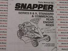 06085 Snapper Series 8 & 9 Rear Engine Rider Parts Manual