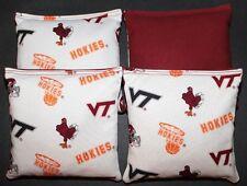 Virginia Tech VT Univeristy Hokies Cornhole Bean Bags 4 ACA V Tech Toss Bags NEW