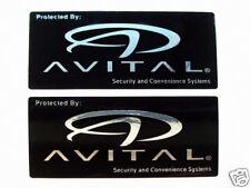 Avital Car Alarm Security Window Stickers Decals