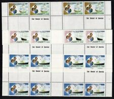 St VINCENT GRENADINES 1981 ROYAL WEDDING PART SHEETS FULL GUTTERS MNH