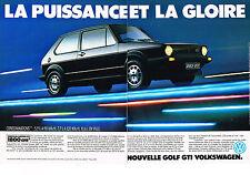 PUBLICITE ADVERTISING 054  1983  VOLKSWAGEN GOLF GTI la puissance & la gloire(2p