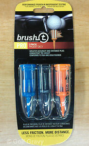 Brush-t Golf Tees Assorted (3-Wood, Driver, Oversize) - 1 pack of 3 tees