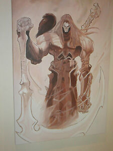 Darksiders Death 30x20 Oil Painting not a print Framing Available