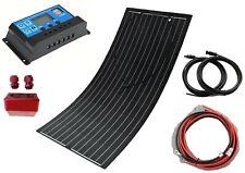 Panel solar Semi-flexible 100W Kit de cargador de batería + Controlador Pwm 20A Coche Barco
