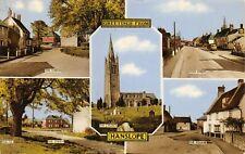 Vintage Buckinghamshire Multi View Postcard Greetings from Hanslope Village AG6