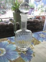 Vintage Glass  DECANTER, glass stopper ELEGANT 20cms,Oil / Vinegar & more