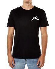 New Rusty Men's TV Screen Graphic-Print Logo Short Sleeve T-Shirt Black Size XL