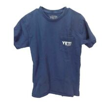 "Yeti Coolers ""built for the Wild"" pocketed 100% cotton tee shirt Women's med"