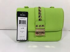 BCBG Studded Caviar Crossbody Apple Gree NWT