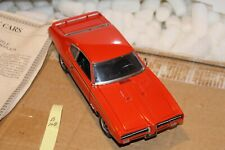 B108 Danbury Mint 1969 Pontiac GTO Judge 1:24 Red, Title