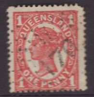 Queensland 170 numeral postmark on 1d QV stamp (MALENY)