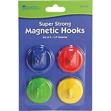 Learning Resources Super Strong Magnetic Hooks Set Of 4 Assorted Colors 15