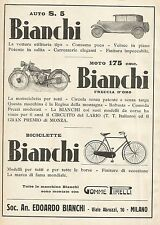 Y0645 BIANCHI - Auto - Moto - Biciclette - Pubblicità 1931 - Advertising