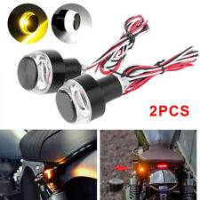 2X Motorcycle Turn Signal LED Light Indicator Blinker Handle Bar End Handlebar U