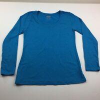 New Balance Women's Long Sleeve Blue T-shirt Size Large