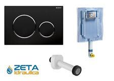 GEBERIT CASSETTA SCARICO INCASSO WC UNICA+ PLACCA SIGMA 20 NERA/CROMATA/NERA