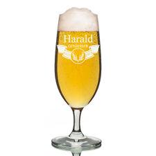 Leonardo VERRE PILS Verre à bière incl. GRAVURE bannière avec épis