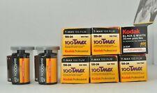 Lot of 8 Rolls of Expired Kodak Black & White 35mm Film