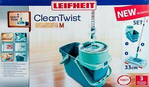 Leifheit Propre Twist Systeme Lave-Sol Mop Seau Essuie-Glace Neuf
