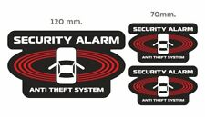 security alarm anti theft system signs car window vinyl sticker decal