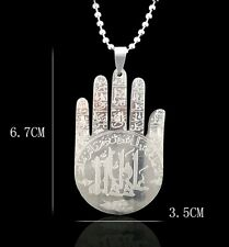 Special Gift from Ahlulbayth/PANGA/ Stainless Steel Hamsa Hand of Fatima Pendant