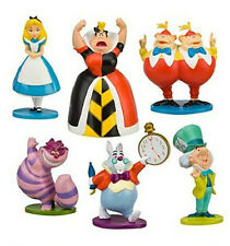 6pcs Alice in Wonderland PVC Mini Figure Figurines Cake Toppers Toys Dolls Set