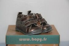 BOPY -  Zepovel   - Chaussures bébé Fille -  Cuir Bronze -  T 19   neuf