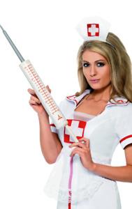 Giant Jumbo Syringe Plastic Novelty Nurse Doctor Fancy Dress costume Accessory