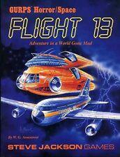 GURPS FLIGHT 13 HORROR SPACE VF! Steve Jackson Games Adventure Module 6108