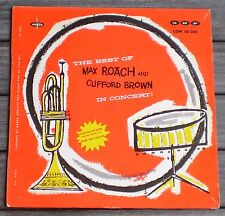 VINYLES 33 T LP : ** THE BEST OF MAX ROACH AND CLIFFORD BROWN IN CONCERT **  !!
