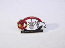 Man United Manchester Utd v Derby 2017/18 3rd Round Match Day Pin Badge