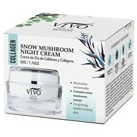 Vivo Per Lei Snow Mushroom & Peony Night Cream Collagen Moisturizer for Firming