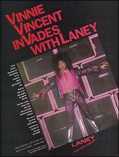 Kiss Vinnie Vincent Invasion 1987 Laney Guitar Amp ad 8 x 11 advertisement print