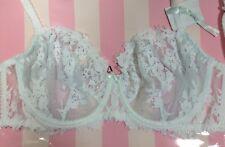 Victorias Secret Dream Angels I DO Unlined Demi 36DD White Bling Lace Bra N1839