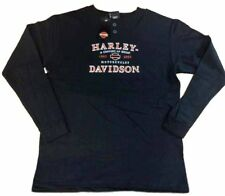 Harley-Davidson Men's Black Long Sleeve 100th Anniversary Henley shirt Medium