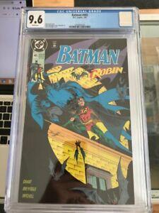 (3) BATMAN CGC GRADED 9.6,  #461,#465,#469 COMICS