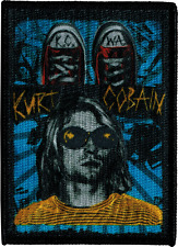 29018 Kurt Cobain Nirvana Grunge Converse Shoes KC WA Embroidered Iron On Patch