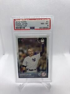 2015 Topps Derek Jeter Tipping Cap #1 PSA 8 NM-MT HOF Yankees SP