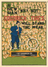 Goodrich Tyres, America, 1895, Classic Reproduction Vintage Cycling Poster