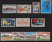 Dahomey - 7 early airmail sets, mint, cat. $ 46.55