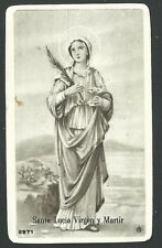image pieuse ancianne de Santa Lucia santino holy card estampa