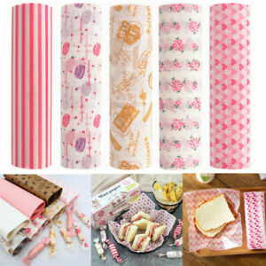 50Pcs Food Wrapping Wax Paper Oilpaper Greaseproof Baking Sandwich Packing Paper
