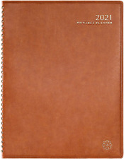 2021 Monthly Calendar Planner - Monthly Planner with Tabs, Leather Calendar Plan
