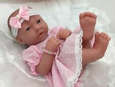 BERENGUER LA NEWBORN AC BABY GIRL DOLL+ MAGNETIC DUMMY  PLAY OR REBORN