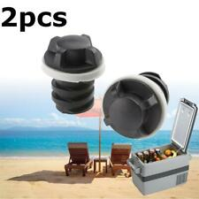 2pcs Drain Plugs Replacement Black ABS for RTIC Coolers Accessories
