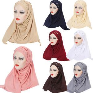 Muslim Women Hijab Instant Scarf Turban Shawl Head Wrap Cover Islamic Headscarf
