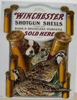 Winchester Guns Ammo Metal Ad Sign Hunting Picture Poster Store Display Decor