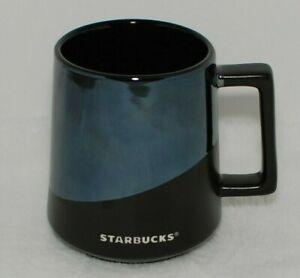 Starbucks 2017 Matte Black & Mirrored Ceramic Coffee Mug 14 oz Stoneware Cup